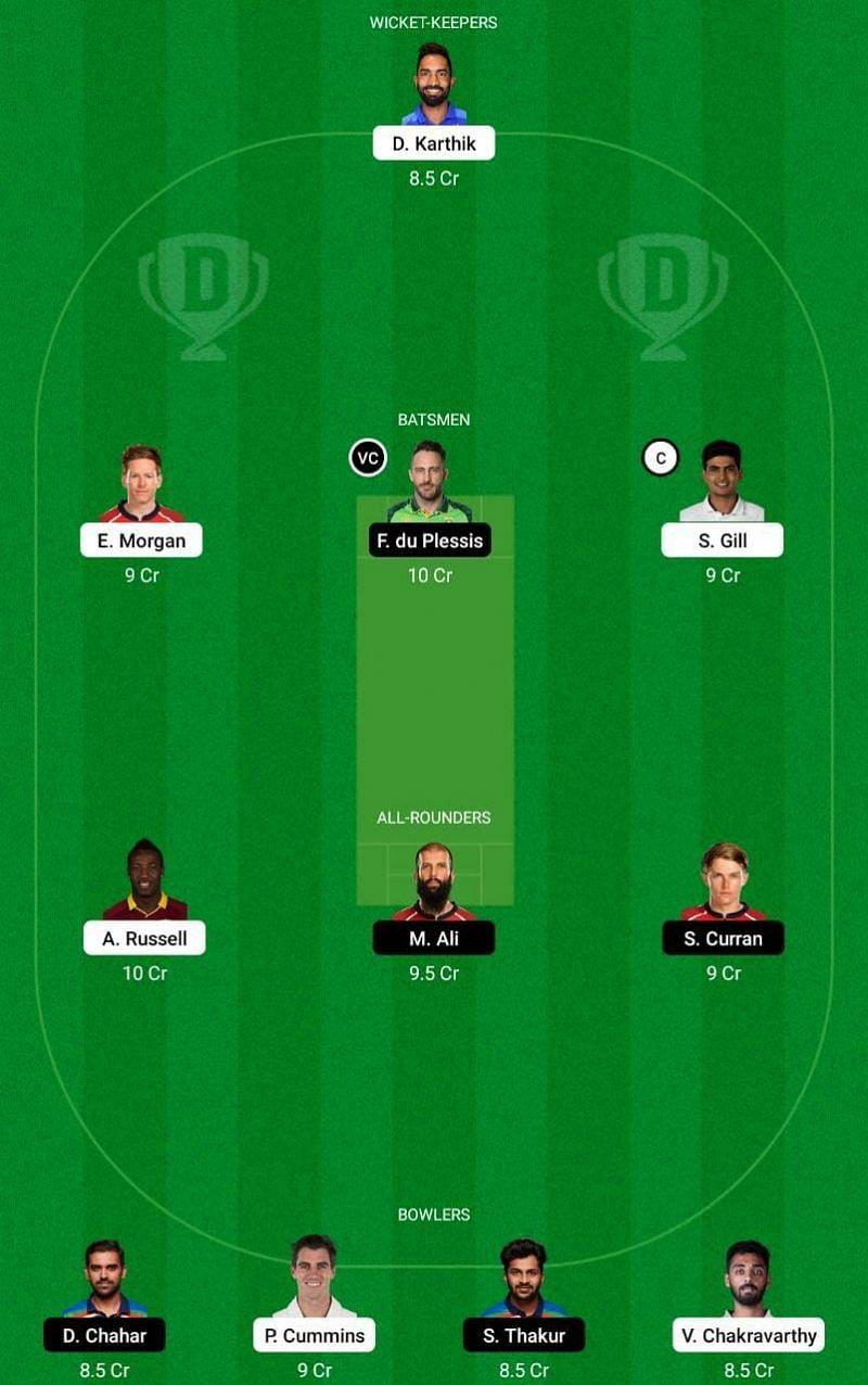 csk vs kkr dream 11 fantasy team